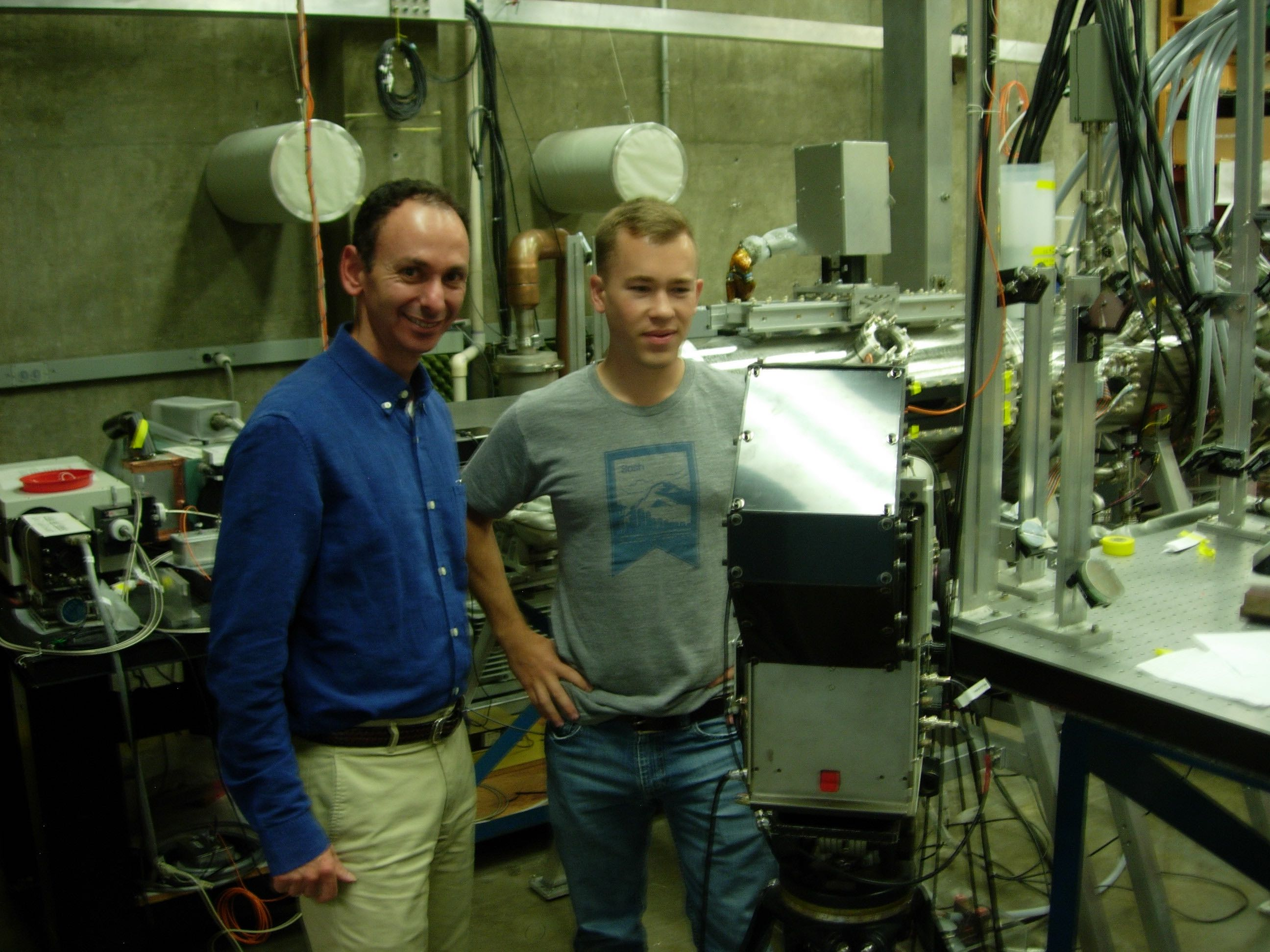 Prof. Shumlak and Jon Weed with ZaP-HD apparatus