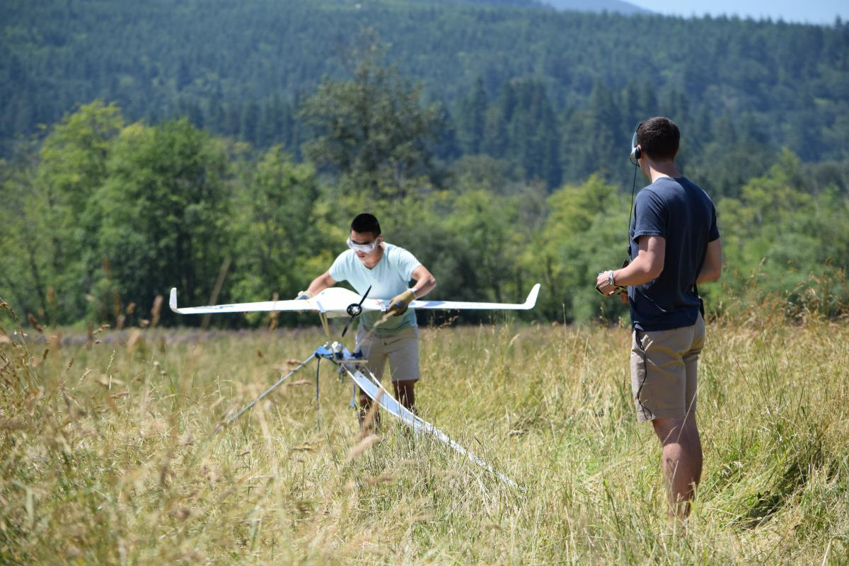 students test skywalker X8 launch system