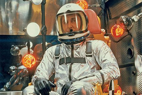Scott Crossfield in astronaut suit